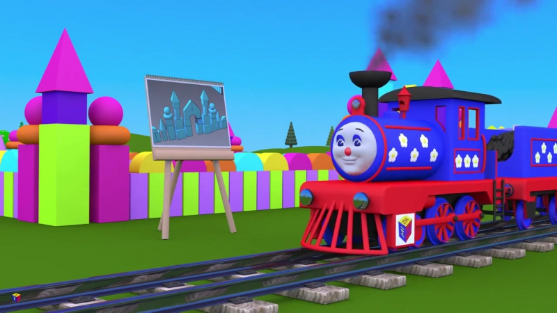 Учим объёмные геометрические фигуры с паровозиком Чух-Чухом - часть 2. Развивающий мультик для детей » Freewka.com - Смотреть онлайн в хорощем качестве