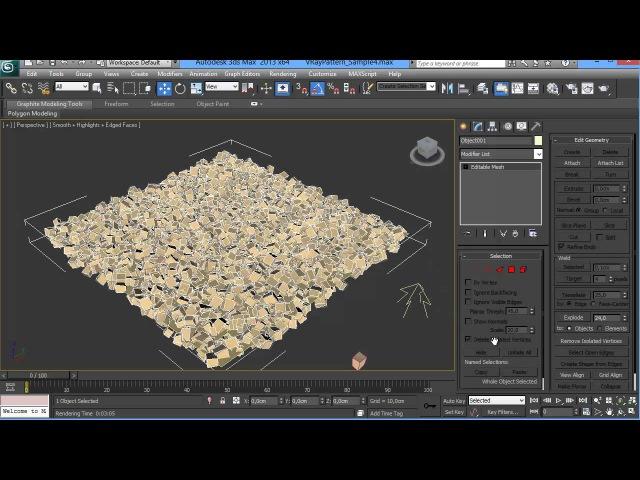 VrayPattern Tutorial 1 Making gravel with MultiScatter