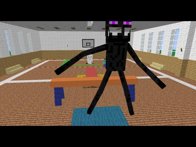 Monster School: Leapfrog Jump - Minecraft Animation