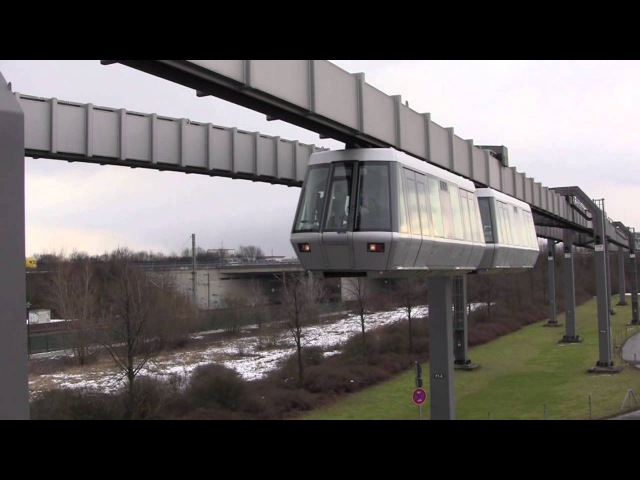 The Skytrain H Bahn at Düsseldorf International Airport DUS Germany 8th February 2013
