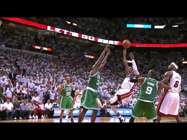 LeBron James Dwyane Wade Chris Bosh big 4th quarter to beat Boston GM7 EFC NBA Playoffs 2012