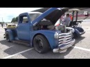 Chevy Rat Rod Pickup Truck: Extreme Burnout Nashville Fairgrounds Speedway