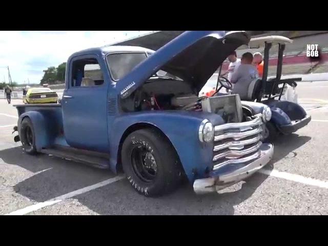 Chevy Rat Rod Pickup Truck Extreme Burnout Nashville Fairgrounds Speedway