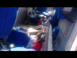 В Хабаровском крае в районе озера Гасси в среду, 5 августа, произошло столкновение двух междугородних рейсовых автобусов / 16 че