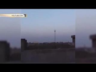 Курдские ополченцы сняли видео полёта российских крылатых ракет.