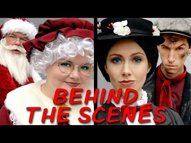 MRS CLAUS vs MARY POPPINS Behind the Scenes (Princess Rap Battle) *explicit*