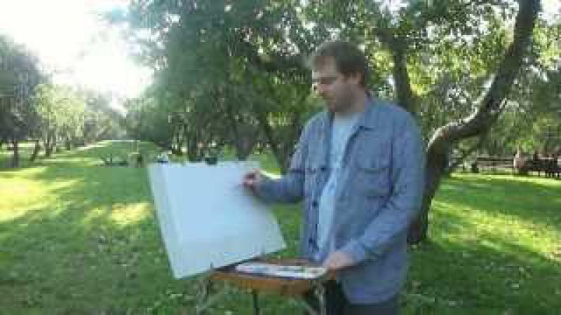 Рисуем на пленэре: яблоневый сад в Коломенском с ЦХР Amideo