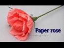 Роза из бумаги. Букет из конфет / DIY Paper rose.