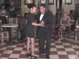 Yoannis and Miriam dancing a mix of salsa and son in Santiago de Cuba, 2002