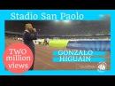 Gonzalo Higuain 9 volte come suo numero /9 times its name DECIBEL BELLINI stadium announcer Naples
