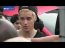 Blonde Justin Bieber meeting fans at West Coast Customs in Burbank, LA, California, December 7, 2014