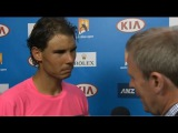 Rafael Nadal Interview after R1 AO2015