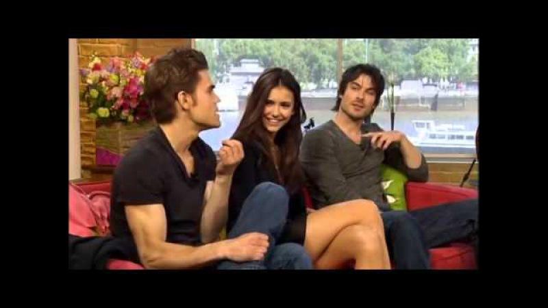 Nina Dobrev, Ian Somerhalder Paul Wesley - The Vampire Diaries stars on This Morning