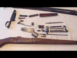 How to disassemble a ww2 German K98K Mauser rifle (field strip) (deactivated)