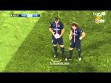 ⊕ David Luiz ⊕ moves the shaving foam vanishing spray during PSG Chelsea 2015