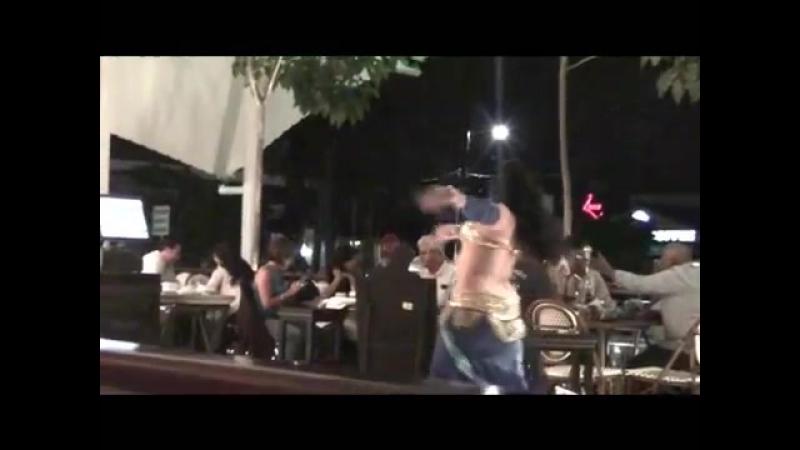 Sandra Harir Bellydance Show in 'Baalbeck' Restaurant