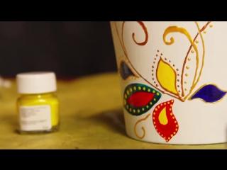 Роспись красками по керамике DECOLA