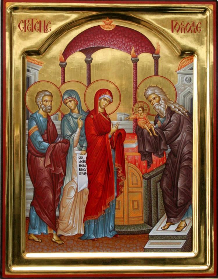 Сретење Господње, икона из Дечанске иконописне радионице