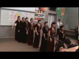 Туркменский народный танец. Студентки из Туркменистана. ВНМУ, Украина.