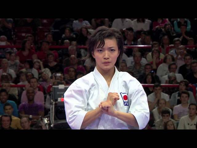 Final Female Kata Rika Usami of Japan 宇佐美 里香。空手