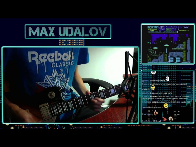 Robocop 3 - Title Screen (NES) Guitar Cover Stream Version