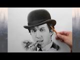 Портрет карандашом Адриано Челентано. (Adriano Celentano- drawing portrait)