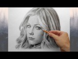 Аврил Лавин - портрет карандашом (Avril Lavigne - drawing portrait).