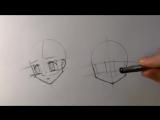Как нарисовать лицо из аниме