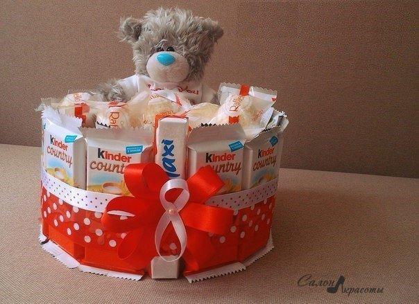 Сладкие подарки для девочек своими руками 36