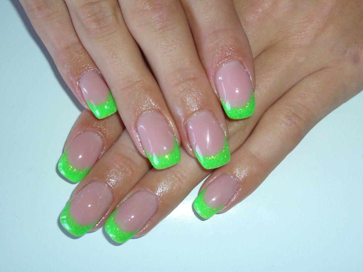 Фото ногти разноцветные наращивание
