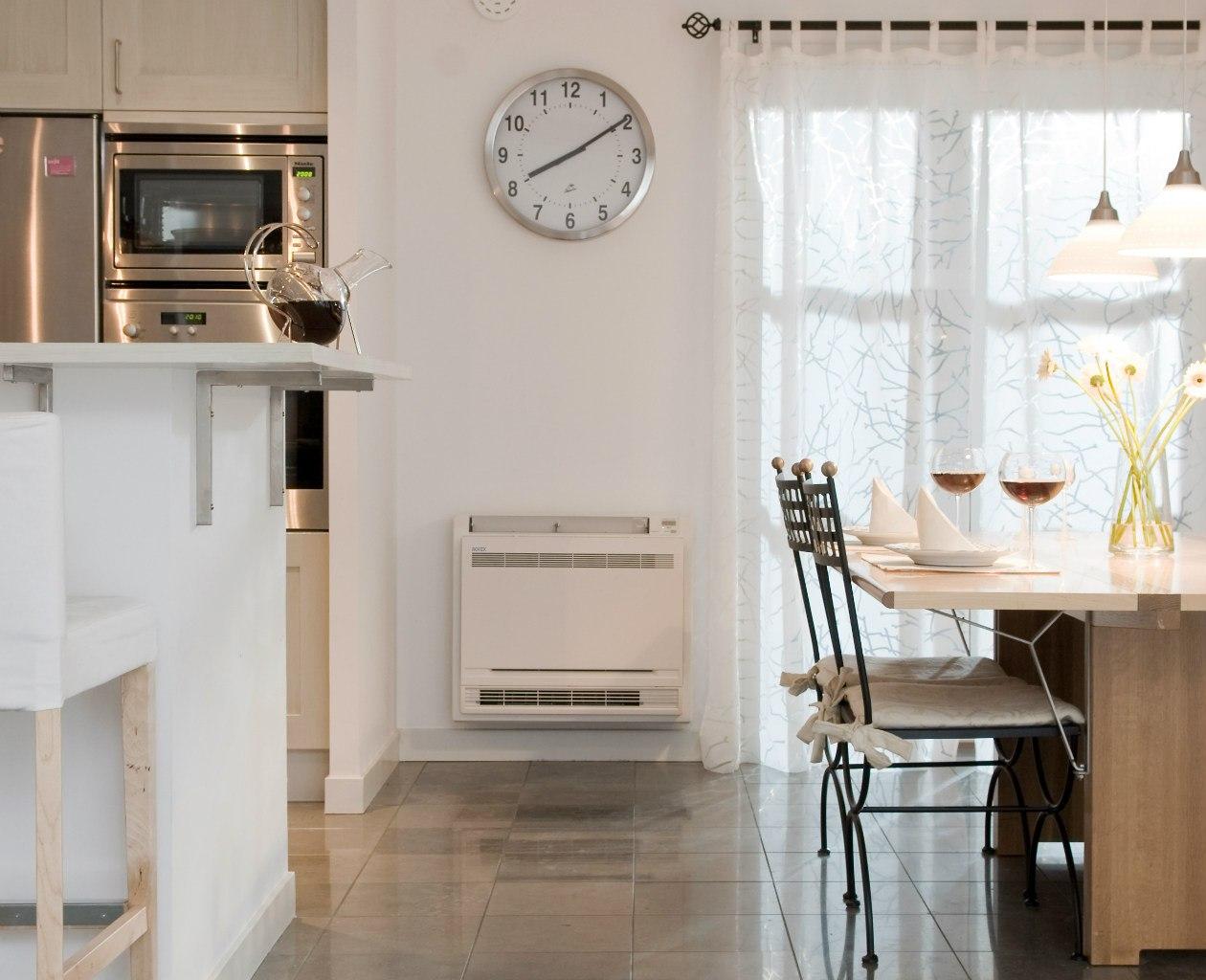 газовый конвектор на кухне