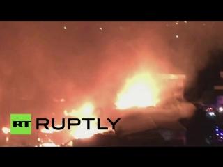 На Филиппинах произошел крупный пожар