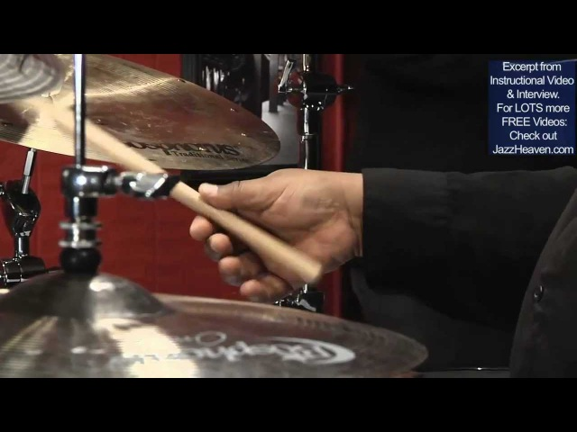 *Uptempo Jazz Ride* Cymbal Technique Lesson Drummer Ralph Peterson Playing Fast Swing Fast Tempo
