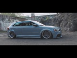 Audi A3 Stance on Rotiform Slammed Shortcut