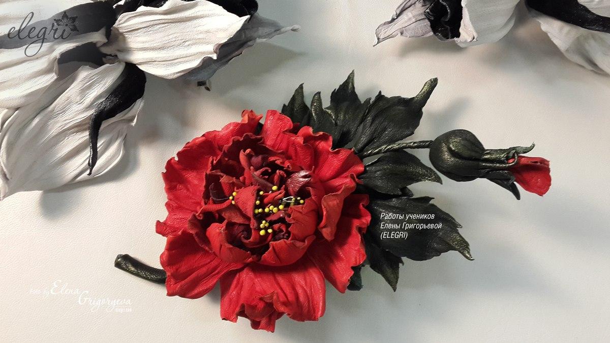 Мастер класс розы из кожи