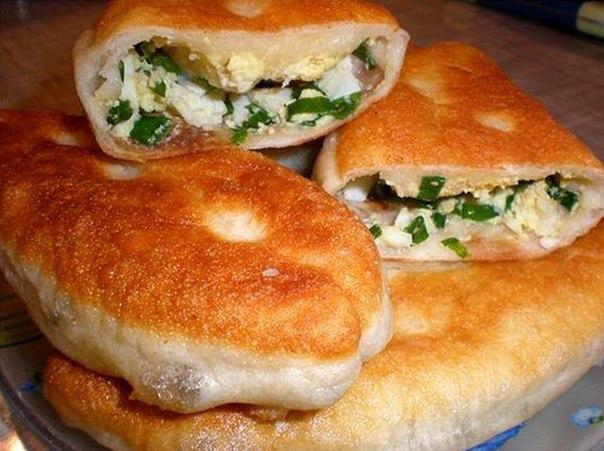 Рецепт пирожков с рисом луком и яйцом в духовке пошаговый рецепт с