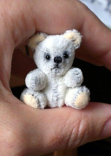 Мишка Тедди 3,5 см. Лапки и голова подвижны…. (3 фото) - картинка