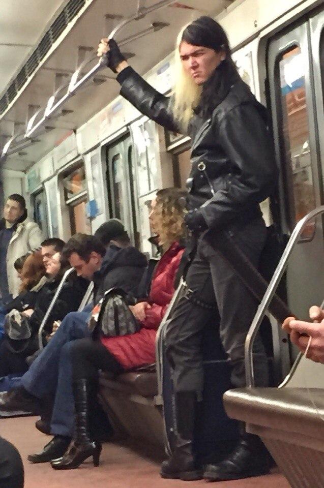 Мода в питерском метро фото