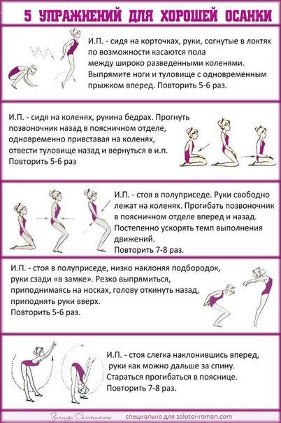 Упражнения для осанки с гантелями в домашних условиях
