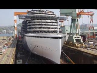 Строительство океанского лайнера в ускоренном воспроизведении [720p]