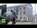 Грозный - Штурм силовиками Чечни захваченной школы, в ход идут БТРы 4.12.14