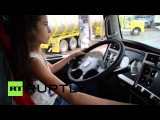 Colombia: This 12-year-old girl is LOCO for lorries