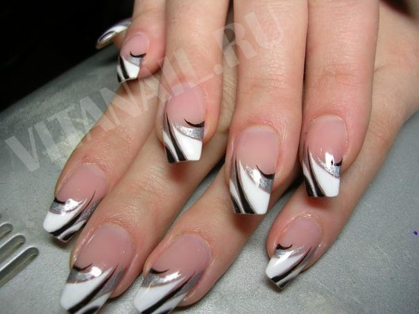 Дизайн ногтей абстракция фото