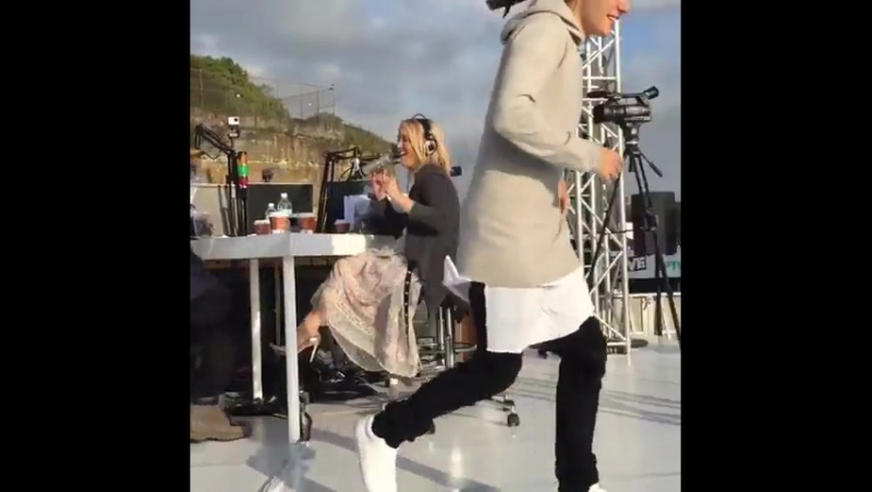 Kiis1065 Just a quick hello from @justinbieber before he performs on BieberIsland He'll be chatting to @kyleandjackieo after
