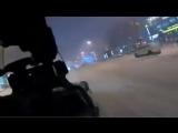 Прогулка по Киеву на снегоходе)))