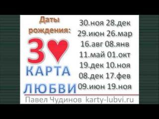 Карта любви Три черви. Даты рождения 30 ноября,  28 декабря, 29 июня, 26 марта, 16 августа,