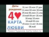 Карта любви Четыре черви. Даты рождения 31 октября,  29 ноября, 27 декабря, 11 июля, 2 ноября,