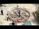 crazy chinese man flying with homemade octocopter