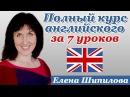 Полный курс английского языка за 7 уроков для начинающих. Елена Шипилова
