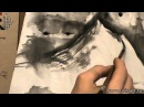 Уроки по пейзажной живописи у син Урок 11 Лунная ночь в горах